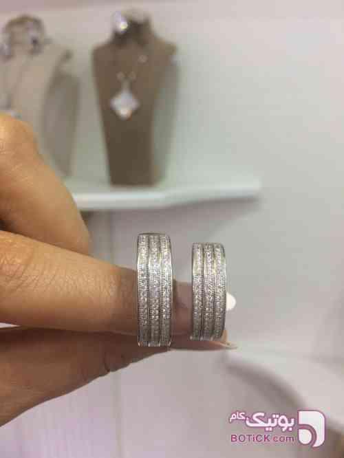 انگشتر حلقه ست نقره سفید انگشتر