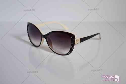 عینک آفتابی دسته نگین دار کایزی مدل K2010 کرم عینک آفتابی
