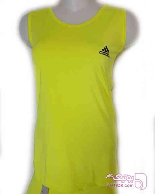 ست تاپ شلوار ADIDASاسپورت زرد ست ورزشی زنانه