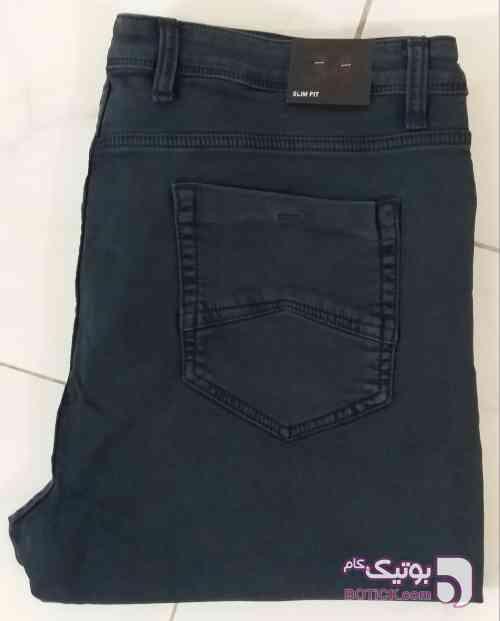 شلوار جین سایز بزرگ طوسی سایز بزرگ مردانه