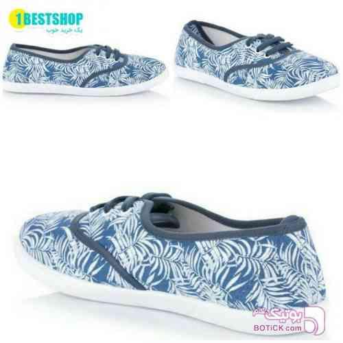 کفش_راحتی آبی كتانی زنانه