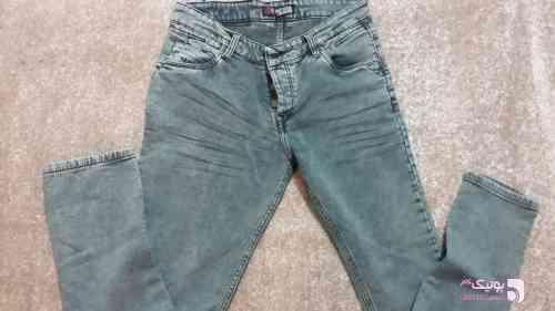 شلوار جین حوله ای آبی شلوار مردانه