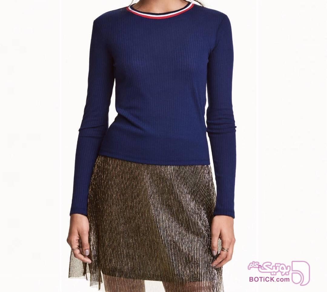 بلوز  اچ اند ام  H&M سورمه ای بلوز زنانه