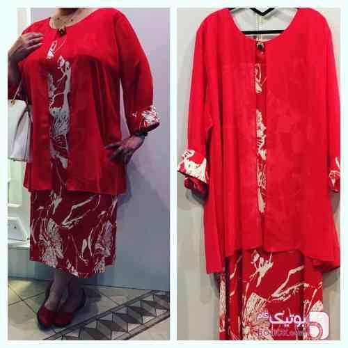لباس مجلسي ترك قرمز لباس  مجلسی