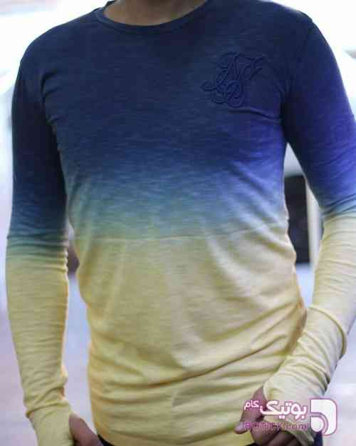 تیشرت ترک سیک سیلک آبی تی شرت مردانه