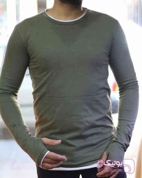 تیشرت انگشتی ترک سبز تی شرت مردانه