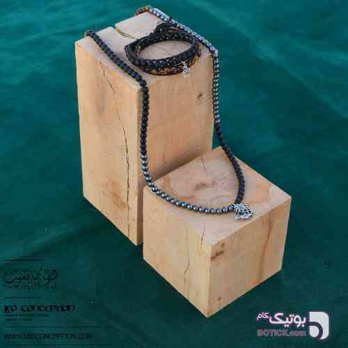 گردنبند سنگ / آویز نقره ۹۲۵ عیار (SN۰۳) مشکی گردنبند