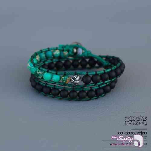 دستبند WRAP / سنگ سدمینت و اونیکس (WP06) سبز دستبند و پابند
