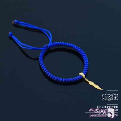 دستبند پر نقره / بافت مکرومه اسپانیایی (MS۲۱) سورمه ای دستبند و پابند
