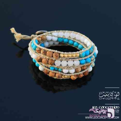 دستبند WRAP / سنگ هولایت و جاسپر (WP05) کرم دستبند و پابند