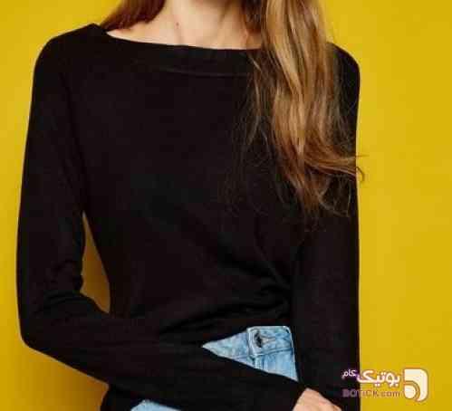 بلوز زنانه مدل کایاک برند کوتون مشکی بلوز زنانه