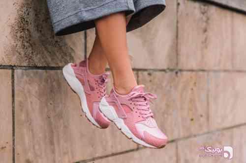 Nike - Huarache صورتی كتانی زنانه