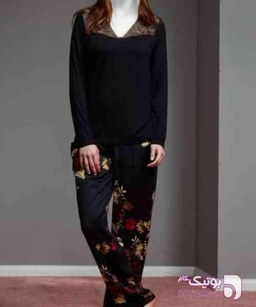 ست بلوز و شلوار مارک Penye Mood  ترکیه  مشکی لباس راحتی زنانه