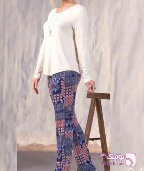 ست بلوز و شلوار مارک GIZZEY  ترکیه  سفید لباس راحتی زنانه