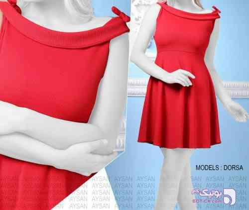 پیراهن مجلسی قرمز لباس  مجلسی
