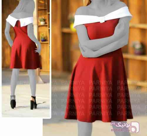 پیراهن مجلسی مدل نگین قرمز لباس  مجلسی