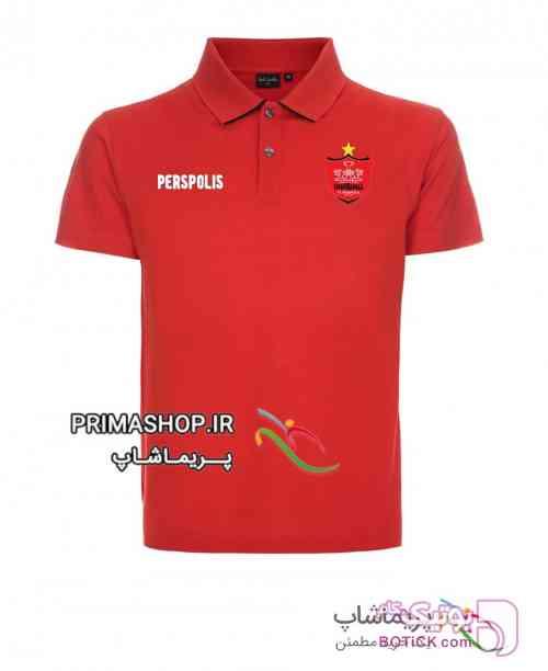 پولوشرت ورزشی پرسپولیس قرمز تی شرت مردانه