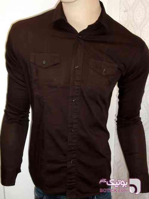 پیراهن کتان قهوای قهوه ای پيراهن مردانه