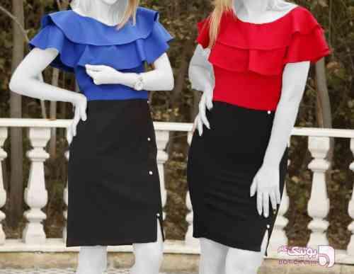 لباس مجلسی کد 22 آبی لباس  مجلسی