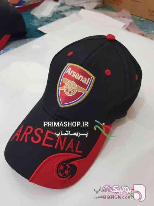 کلاه ورزشی لبه دار آرسنال مشکی کلاه