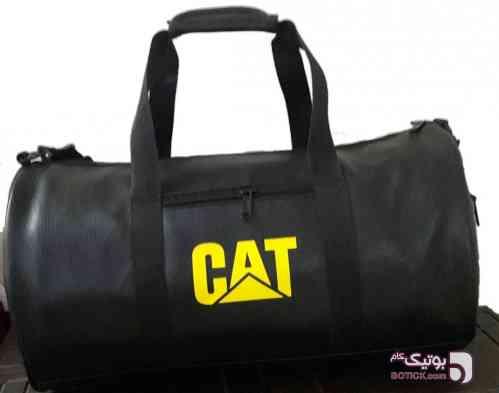 ساک ورزشی چرمی CAT مشکی ساک و کوله