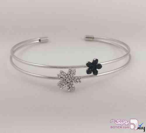 دستبند شکوفه ای نقره ای دستبند و پابند