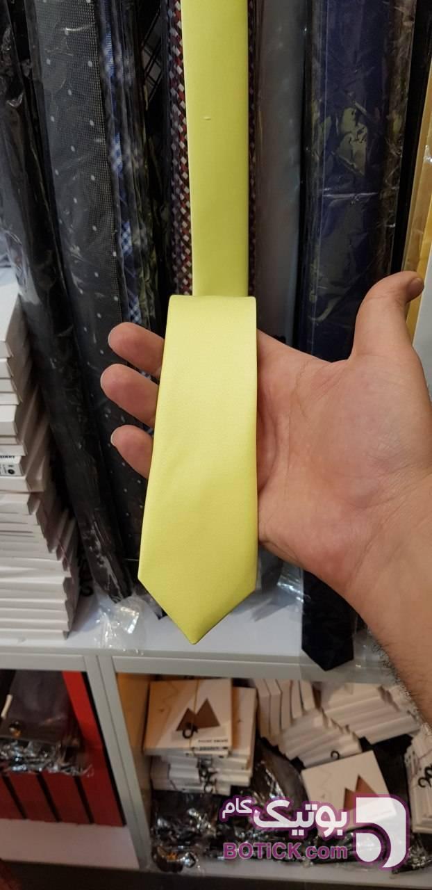 کراوات ساده لیمویی  زرد كراوات و پاپيون
