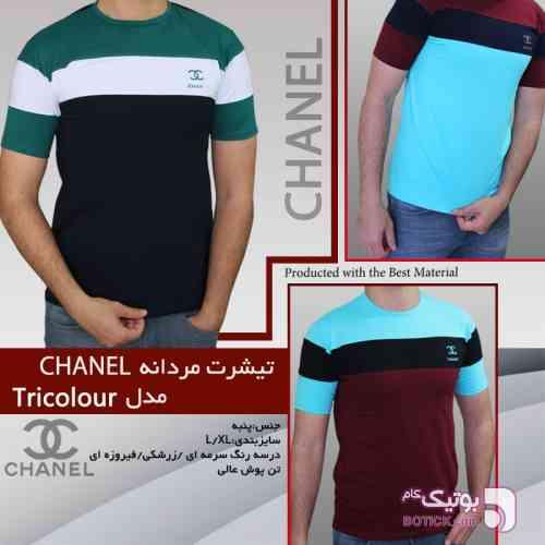 تیشرت مردانه chanel مدل tricolour سورمه ای تی شرت مردانه