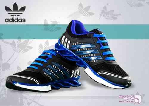 کفش Adidas مدل LaserJet  آبی كتانی زنانه