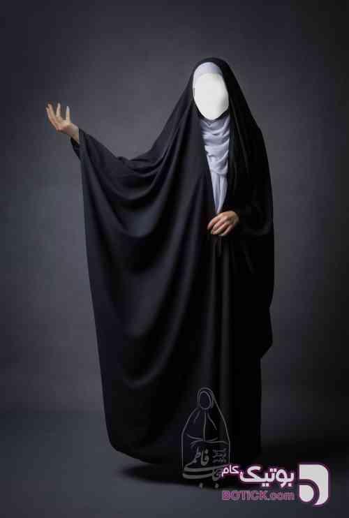 چادر جده (عبای عربی) کریستال مشکی چادر و مقنعه