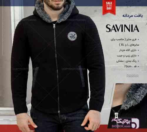 بافت گرم  Savinia مشکی سوئیشرت مردانه