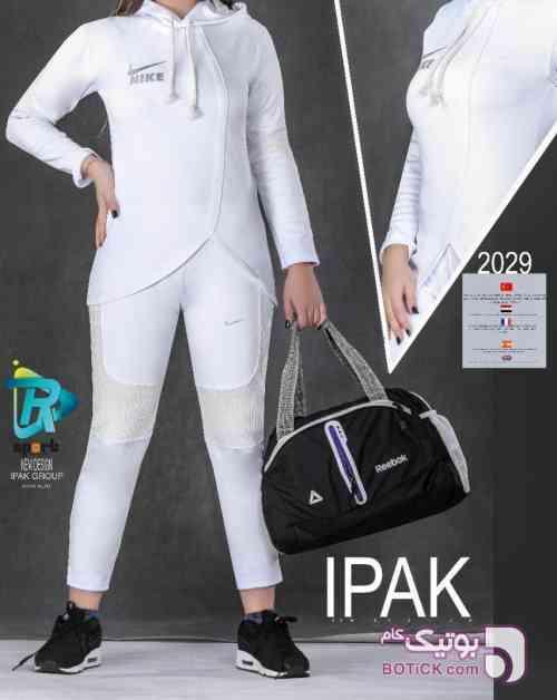 ست اسپرت پاییزی ترک ipak سفید لباس راحتی زنانه
