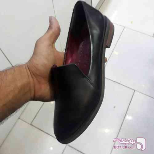 کفش چرم طبیعی مشکی كفش زنانه