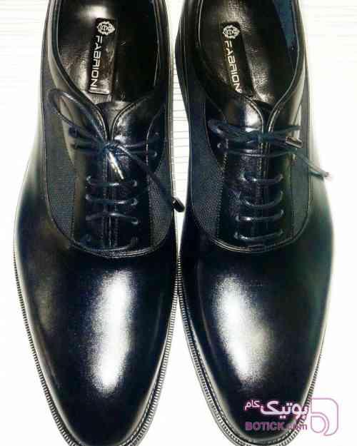 کفش تمام چرم FABRIONI مشکی كفش مردانه