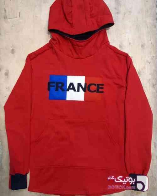 سویشرت فرانسه قرمز قرمز سوئیشرت مردانه