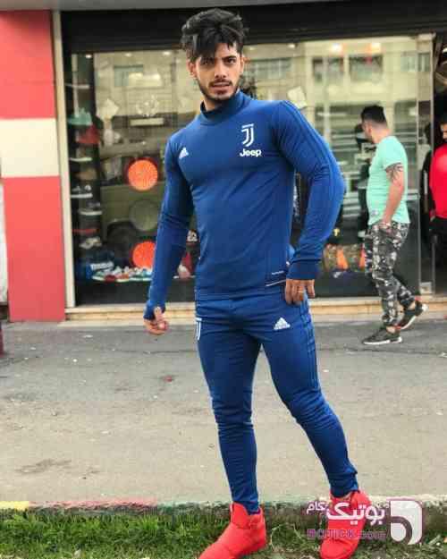 ست مردانه آبی ست ورزشی مردانه
