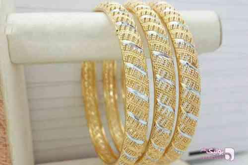 النگو توری دو رنگ طلایی دستبند و پابند