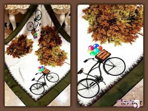 روسری برند levidor  قهوه ای شال و روسری