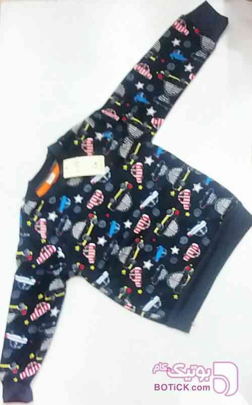 بلوز تک بچگانه مشکی لباس کودک پسرانه