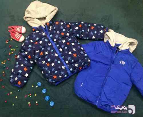 کاپشن دورو آبی لباس کودک پسرانه