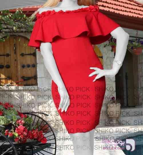 مجلسی شکوفه قرمز لباس  مجلسی