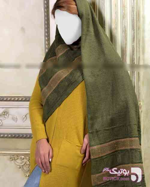 شال بافت سبز شال و روسری