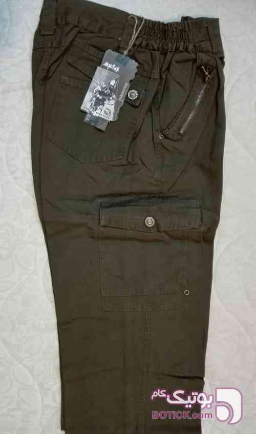شلوار بگ 6 جیب سبز شلوار مردانه
