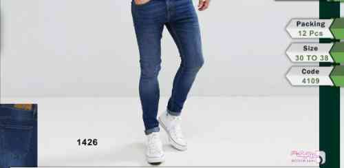 شلوار جین مردانه آبی 96 2017
