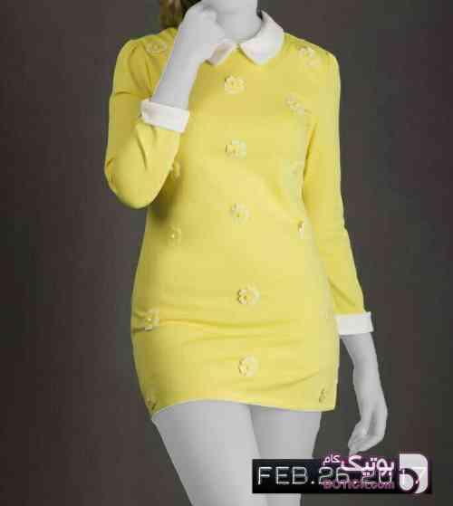 شومیز زرد  زرد پيراهن زنانه