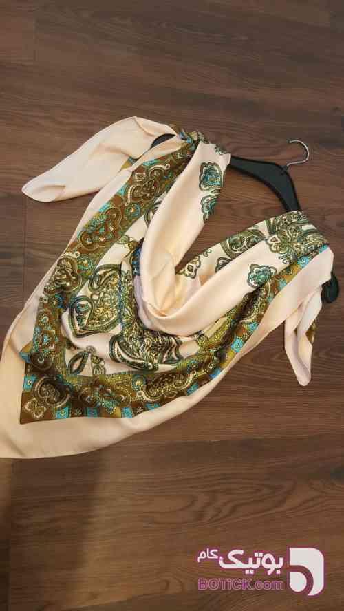 روسری ساتن نخ سبز شال و روسری