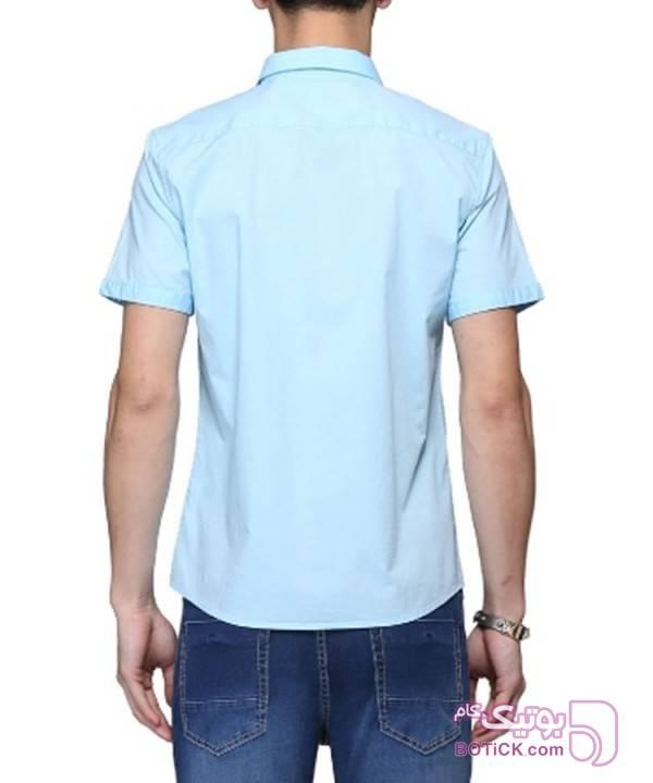 پیراهن آستین کوتاه مردانه جین وست آبی پيراهن مردانه