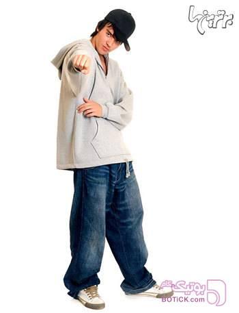 شلوار جین دو فاق سورمه ای شلوار مردانه