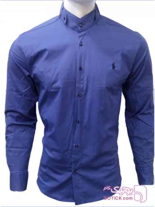 پیراهن یقه دیپلمات آبی پيراهن مردانه