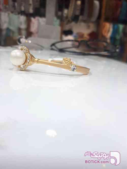 دستبند النگویی مرواریدی طلایی دستبند و پابند